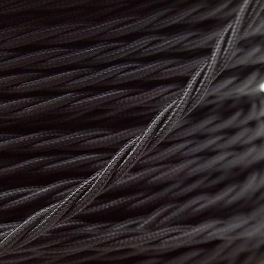Dor/é or Rouge /Anique tress/ée torsad/ée Tissu Soie Cordon de fil de c/âble flexible de lampe lumi/ère UK Stock Marron 10/metres 3/Core Noir Noir et Blanc/