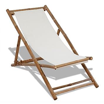 Klappliegestuhl holz segeltuch  Amazon.de: Liegestuhl aus Bambus und Segeltuch