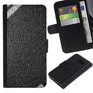 KingStore / Leather Etui en cuir / Samsung Galaxy S6 / Camino de la Libertad de coches Petrol Head