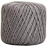 Crochet Thread - SIZE 3 - Color 25 - GREY - 2 Sizes - 27 Colors Available