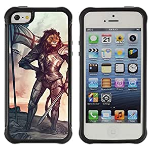 Hybrid Anti-Shock Defend Case for Apple iPhone 6 plus 6 plus Tiger Knight