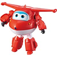 """Super Wings - Transforming Jett Toy Figure, Plane, Bot, 5"""" Scale, Red"""