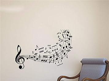 nome adesivo murale Musica da parete Chiave di violino Note ...