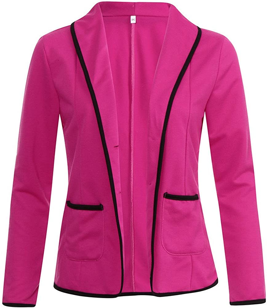 COOKI Women Bussiness Coat Blazer Suit Long Sleeve Top Shirt Slim Cropped Jacket Cardigan Sweater Outwear