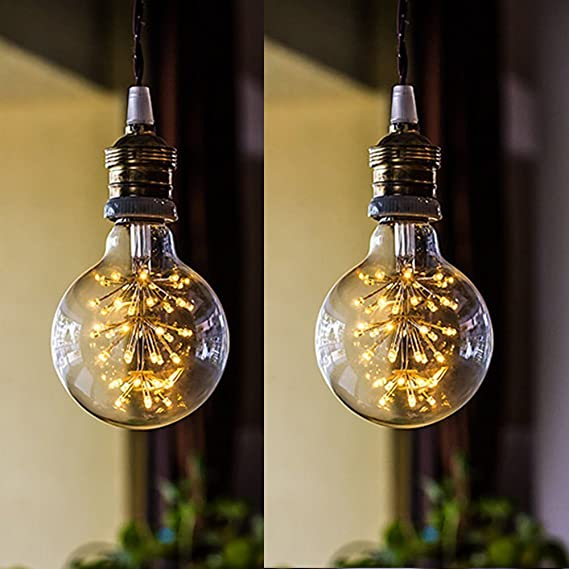G80 Edison Led Starry Decorative Light Bulb Dimmable Brass Vintage Industrial Style Light for Kitchen 1.8W, Warm White - - Amazon.com