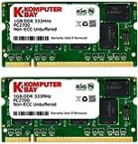 Komputerbay 2Go (2x1Go) 333Mhz DDR PC2700 DDR333 (200 broches) mémoire d'ordinateur portable SODIMM
