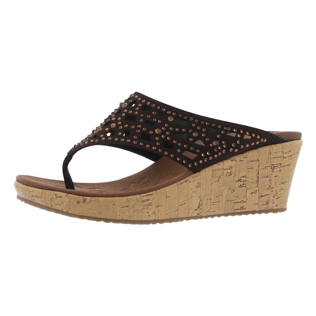 Skechers Cali Women's Beverlee Wedge Sandal,Chocolate,8 M US