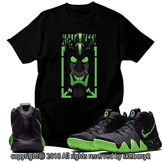 new arrival 6fe57 e701b Custom T Shirt Matching Style of Nike Kyrie 4 Halloween Rage ...