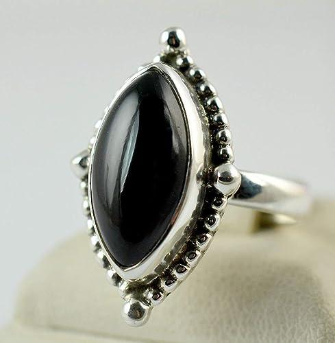 Echter 925 Silber  Damen RING mit Onyx 2,6cm Breit inkl TOP !!! Schmucketui