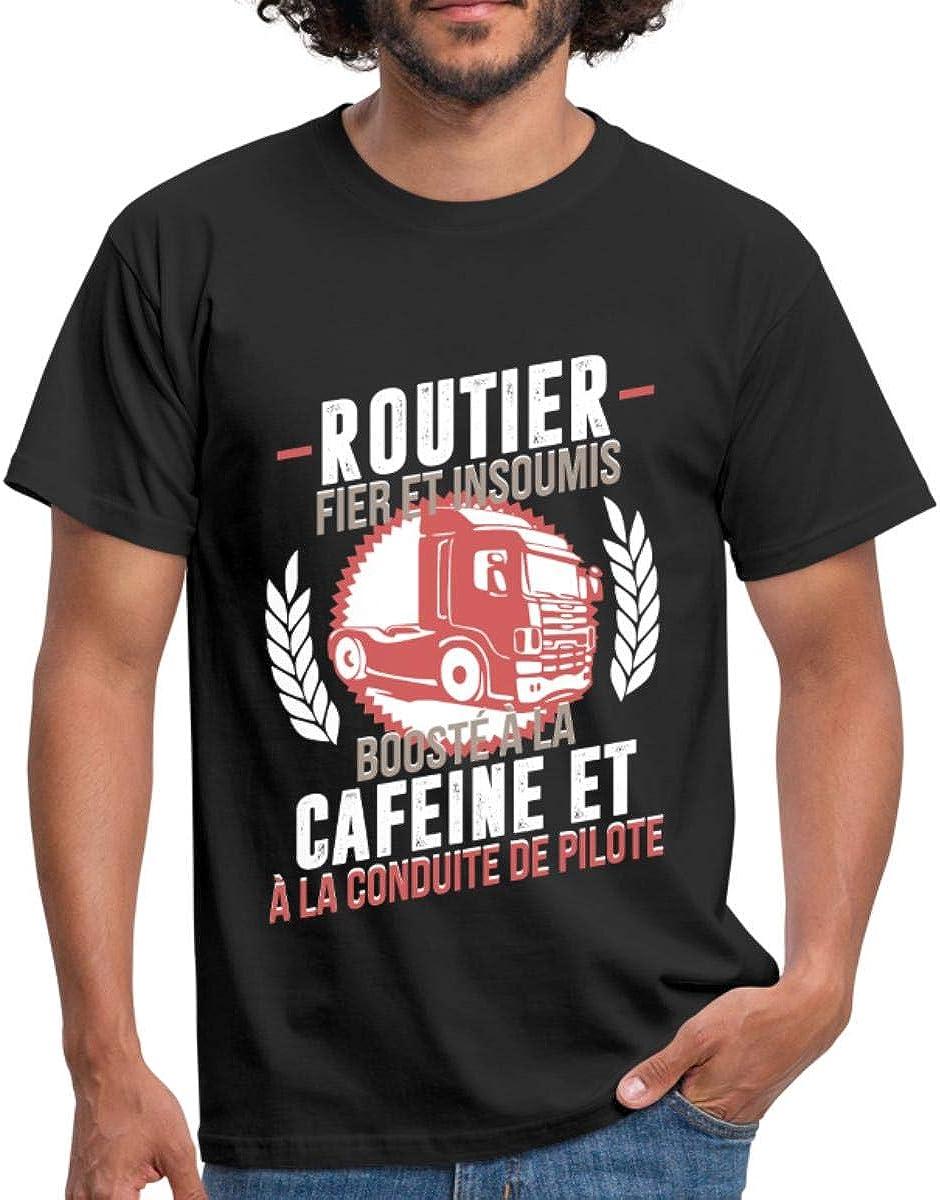 Routier Fier Et Insoumis Humour T-Shirt Homme
