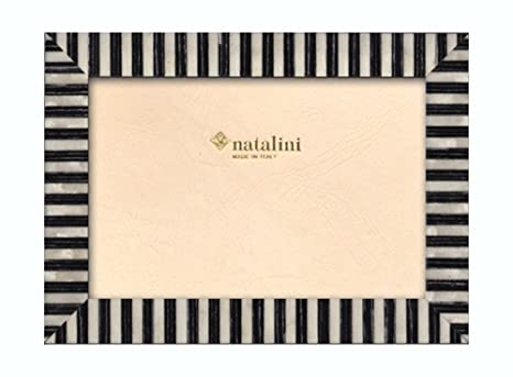 Amazoncom Natalini 4 X 6 Black And White Stripe Wooden Frame Made