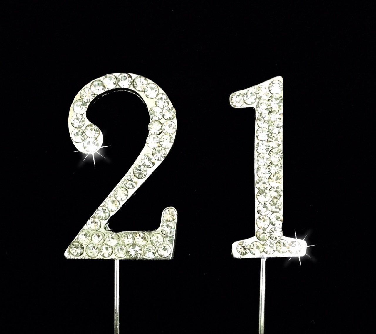 Amazon 21st Birthday Wedding Anniversary Number Cake Topper