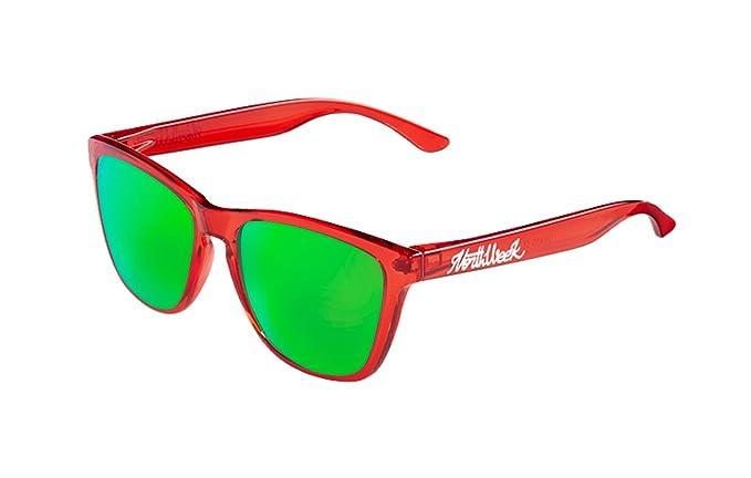 Gafas de sol Northweek ALL Bright Red | lente verde polarizada: Amazon.es: Ropa y accesorios