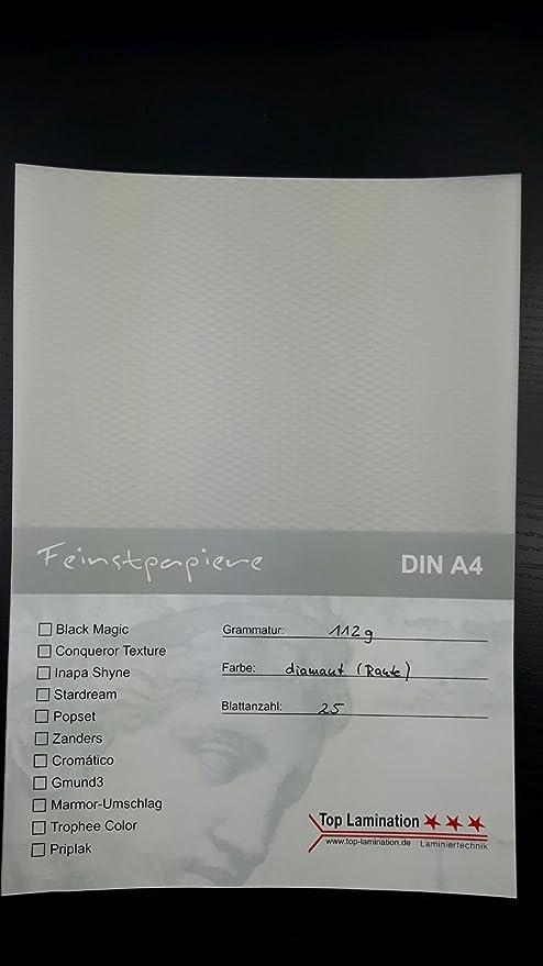 25 Feuilles Format A4 Papier Transparent Diamant Avec Losange 112 G M Excellente Durchsicht