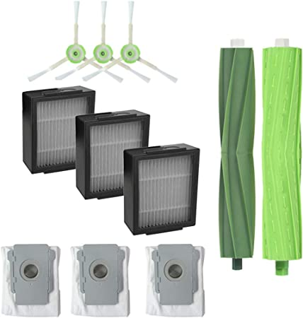 FiedFikt Cepillo lateral para filtros Hepa, cepillo de cerdas para iRobot Roomba i7 i7+/i7 Plus E5 E6 E7 juego de accesorios de robots de barrido giratorio filtros HEPA filtros: Amazon.es: Hogar