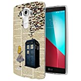 477 - Vintage News Alice In Wonderland Doctor Who Tardis Call Box Butterflies Design LG G3 Fashion Trend CASE Gel Rubber Silicone All Edges Protection Case Cover