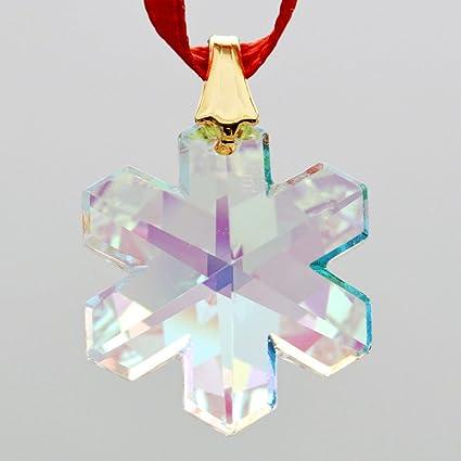 e1a0120bdf6 Amazon.com: Swarovski 20mm Aurora Borealis Crystal Snowflake Prism: Home &  Kitchen