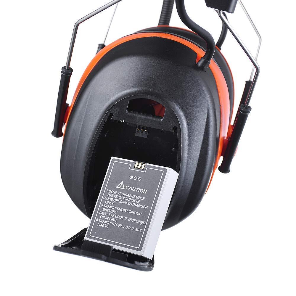 Protección auditiva para audífonos de Seguridad Bluetooth Am FM ...