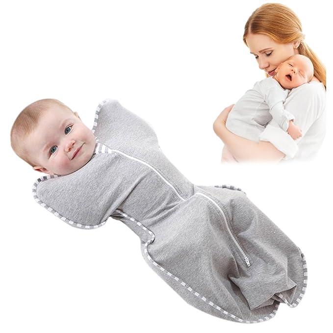 Pueri Saco de Dormir Bebés Recién Nacidos Peleles Bebés Infantiles de Primavera Verano y Otoño Cuna Bebés 0-4 Meses: Amazon.es: Ropa y accesorios