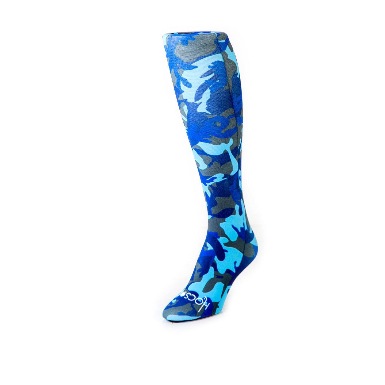Hocsocx Blue Camouflage Liner UNDER Socks - Boys/Men