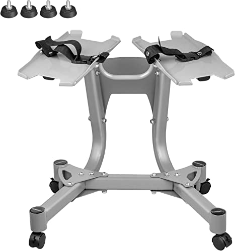 Popsport Adjustable Vertical Metal Dumbbell Stand with Built-in Towel Rack Home Gym