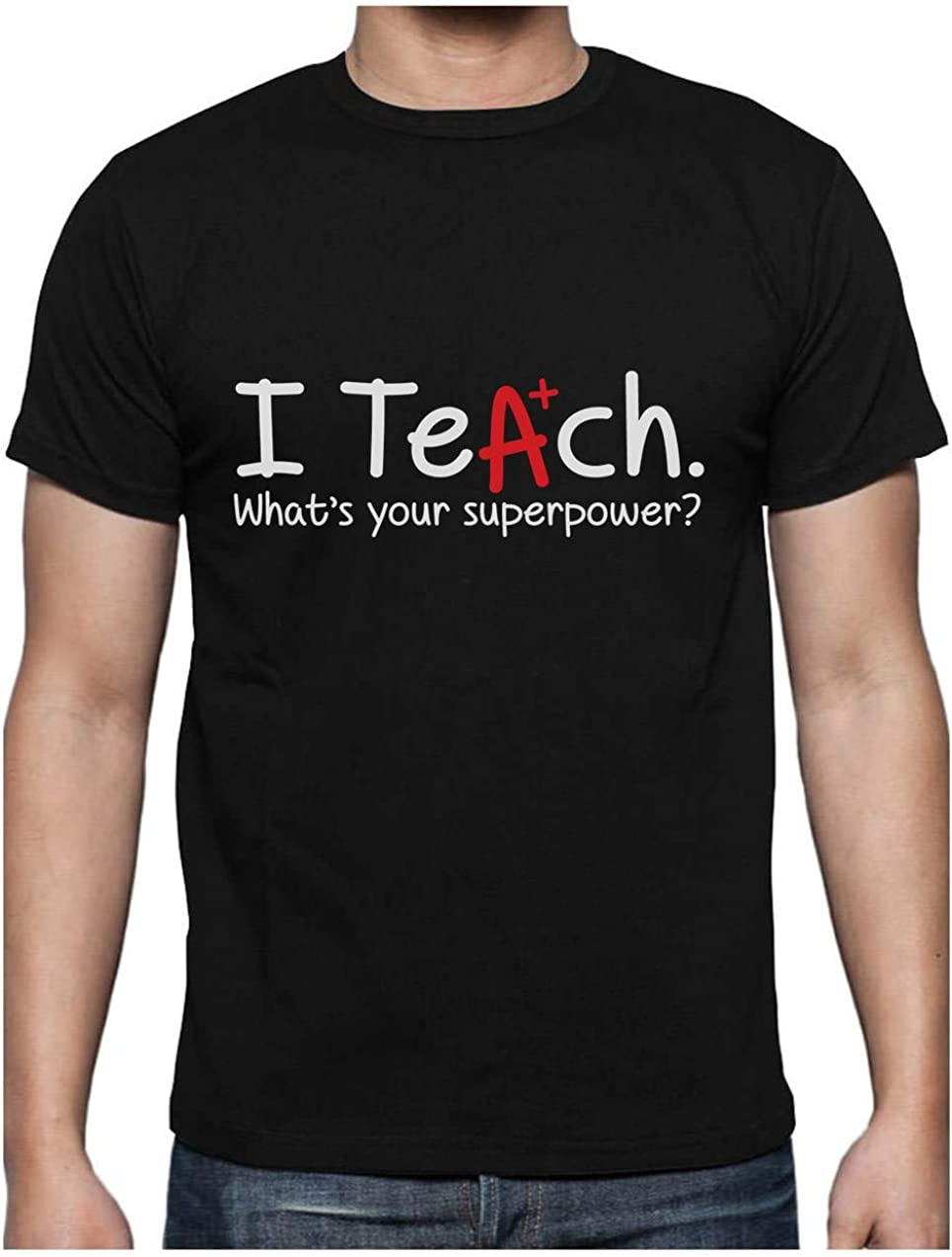 Green Turtle T-Shirts Camiseta para Hombre - Regalo para Profesor - I Teach Whats Your Superpower?