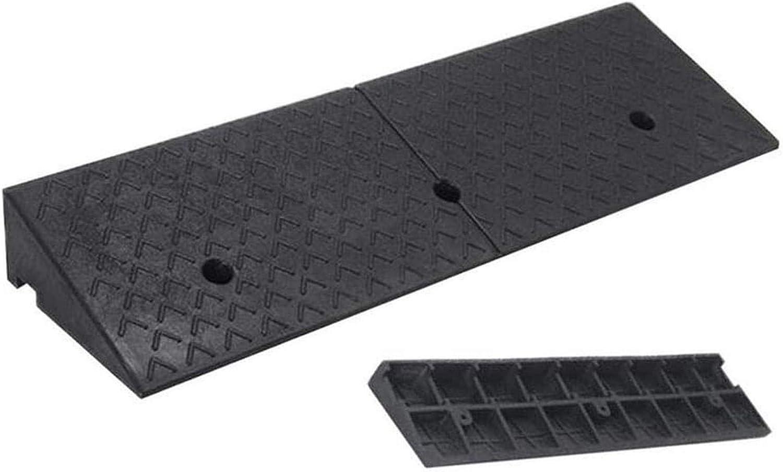 Rampas de goma para bordillos Silla de ruedas Pendiente de autopista Resistencia a la presión Soporte de carga Rampa de coche antideslizante fácil de transportar, 5 tamaños (Color: Negro, Tamaño: 100x