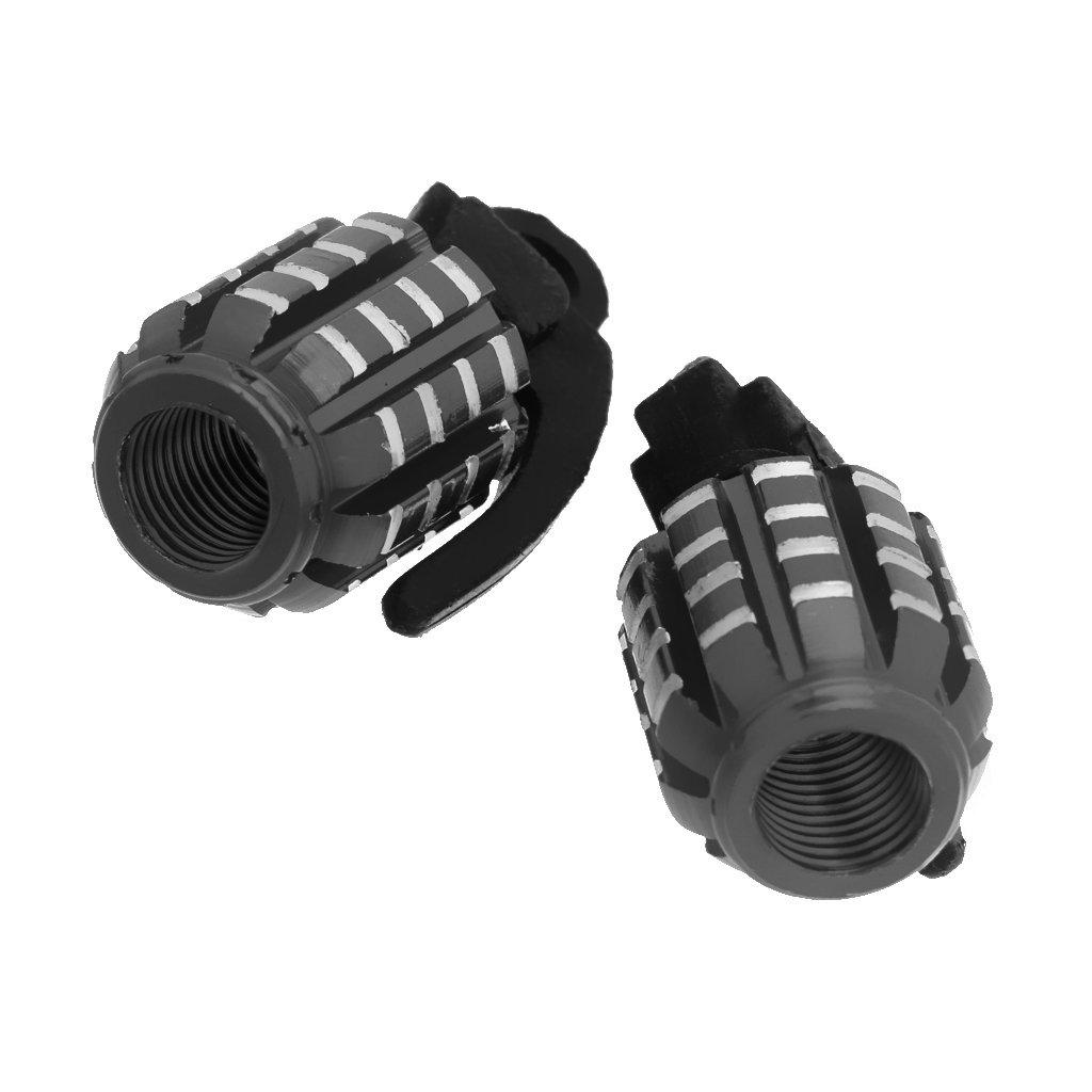 2pcs Grenade Shape Tire Tyre Valve Stem Cover Dust Caps for Car Motorcycle Bike Green