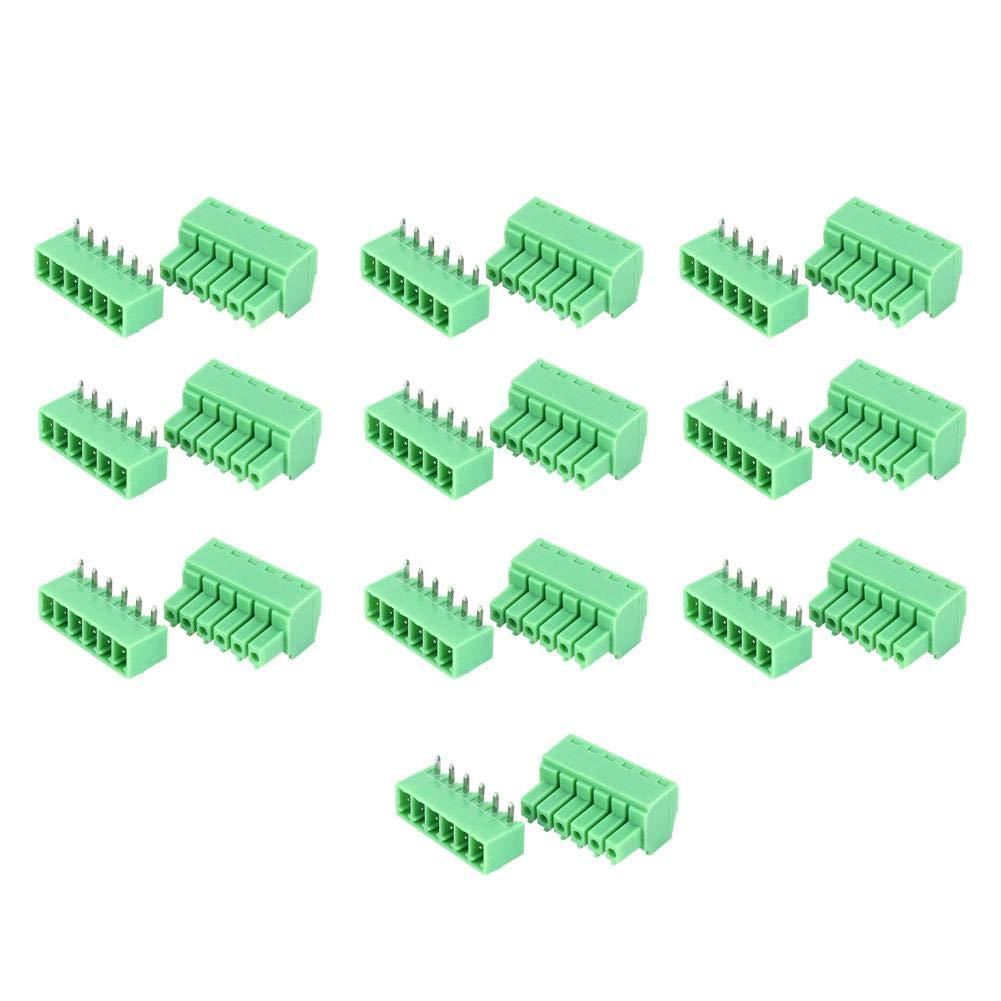 zuverl/ässiger Klemmen langlebiger 10-Paar-Schraubklemmenblock f/ür Elektronikinstrumente