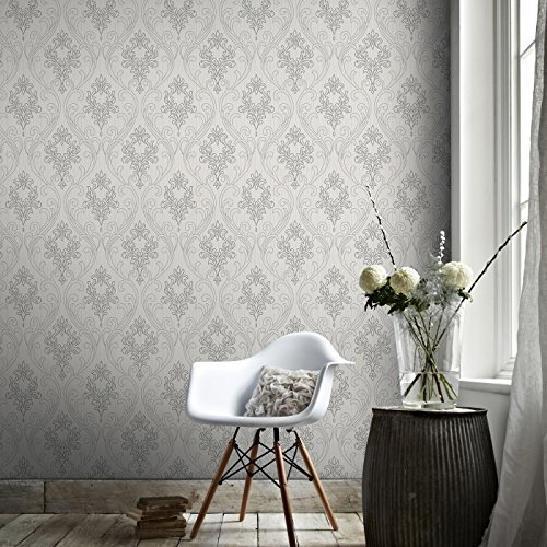 (Graham & Brown 20-939 Royale Grey Wallpaper, Gray)