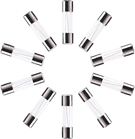 sourcingmap 250/V 7/A F7al Quick /à fusion rapide Tube en verre fusibles 5/x 20/mm 100/pcs