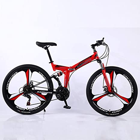 27 velocidades Doble Freno de Disco Suspensión Delantera y Trasera.Portátil Plegables Bicicleta de montaña: Amazon.es: Deportes y aire libre