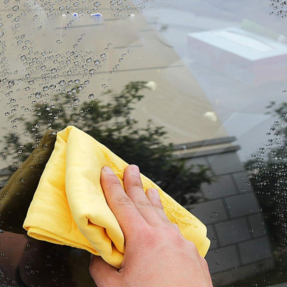 Car Wash Cloth Car Drying Chamois 2-Pack Synthetic Ultimate Drying Shammy Towel for Car Super Absorbent Towel Shammy Cloth Boat or Home