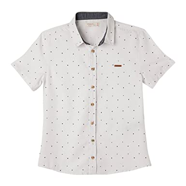 2b0179e13 OFFCORSS Big Boys Short Sleeve Dress Solid Color Cotton Collared Buttoned  Down Dressy Slim Fit Shirt