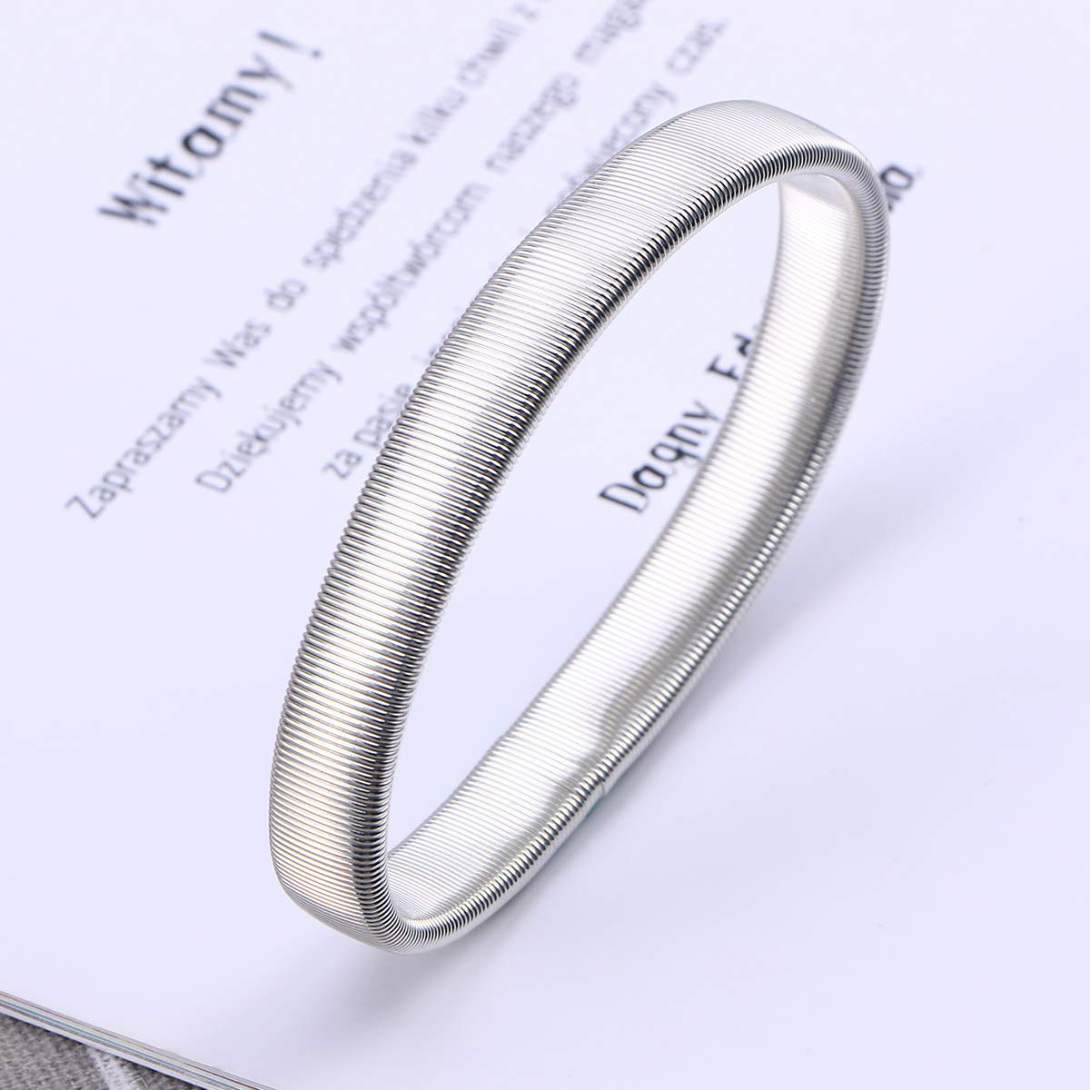 reggi-manica elastico per camicia da uomo ROSENICE color argento