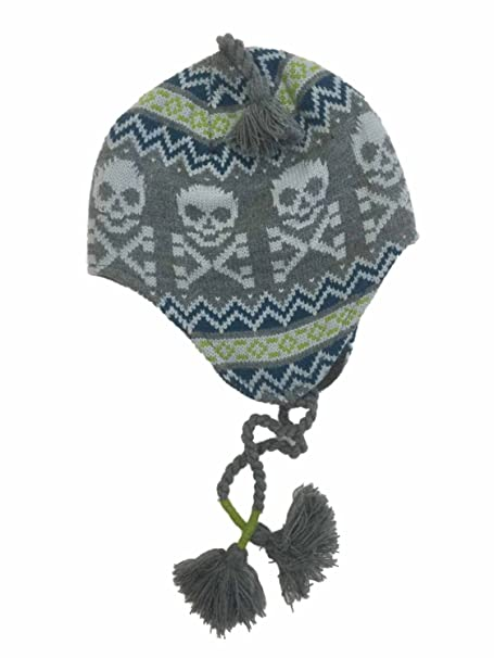 4efb975e224 Image Unavailable. Image not available for. Color  Ben Berger Boys Gray  Skull Peruvian Trapper Hat ...