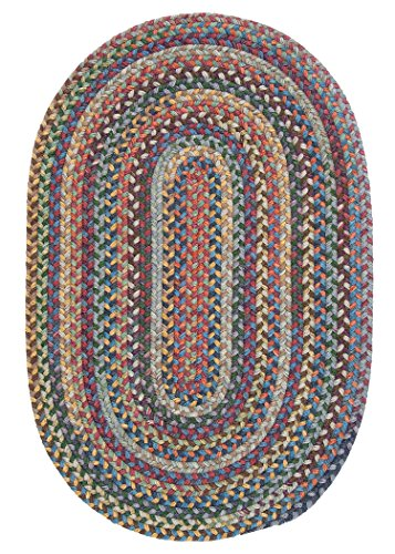 Colonial Mills Rustica Braided Rug, 5 by 8-Feet, Classic/Multicolor made in New England