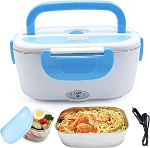 XDeal 12V FoodHeater 40W Car-Use Charging Adapter Electric Lunch Box CarLunchBoxWarmer FoodCarHeater PortableWarmerFood 1.5L PortableFoodWarmerForCar LunchBoxWarmer