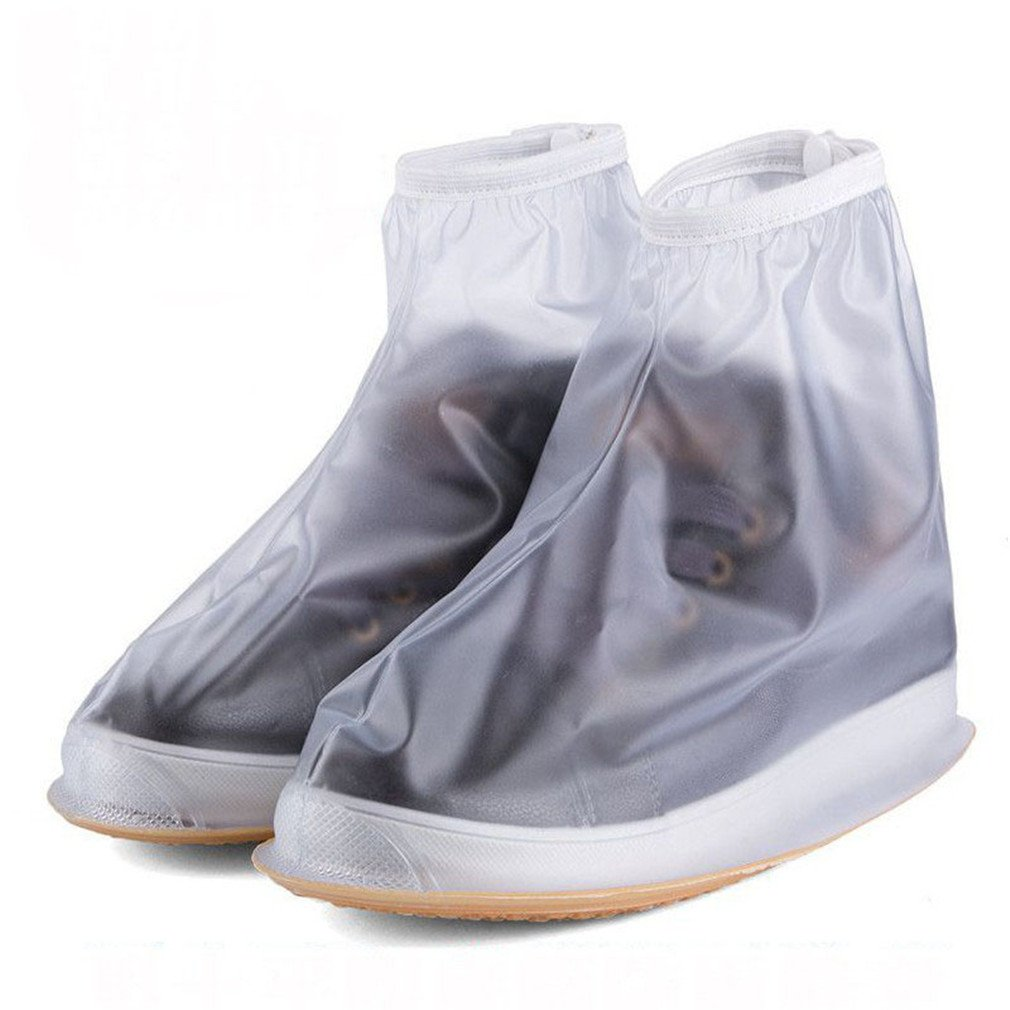 Waterproof Rain Reusable Shoes Covers Overshoes Men Women Shoes Accessories White XL