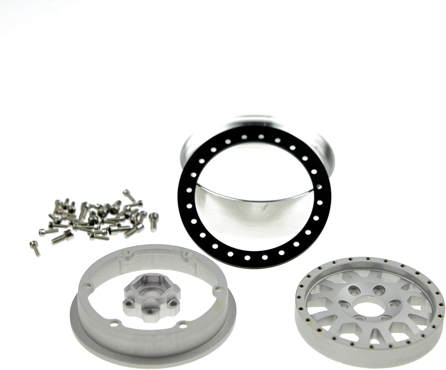 for RC Model #103 4 Pack 25.4mm GDS Racing 2.2 Inch Alloy Beadlock Wheel Rim Thickness 1