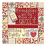 quilt car decals - CafePress - Friendships Are Like Quilts Rectangle Sticker - Square Bumper Sticker Car Decal, 3