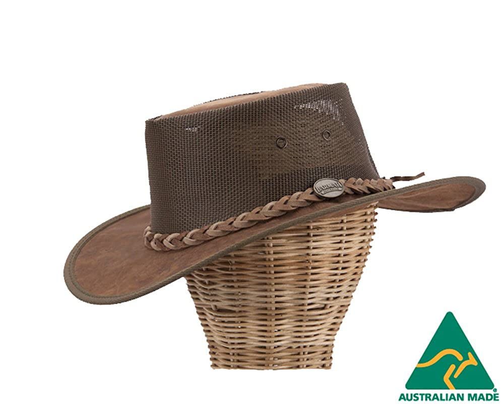 Barmah Real Australian Kangaroo Leather Cooler Hat Hickory