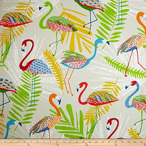 Richloom Indoor/Outdoor Flamingo Fruit Punch Fabric By The Yard (Flamingo Outdoor Fabric)