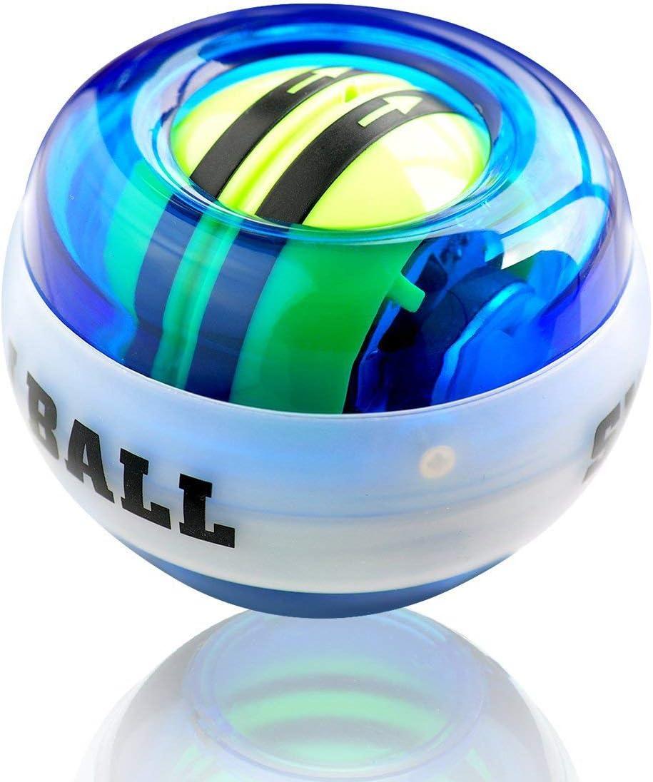 KAVCENT Gyroscopic Forearm Wrist Exerciser Ball Auto Start Gyro Strengthener Ball Wrist Ball Force Ball Wrist Trainer Power Gyroscope LED Power Balls