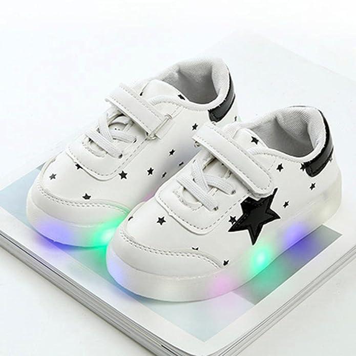 TTMall Scarpe Leggere Bambino Bambino Sneakers di Moda Stella Luminosa Scarpe Casual Colorate Chiare per Bambini (1.5-2T Rnk0L0Yr,