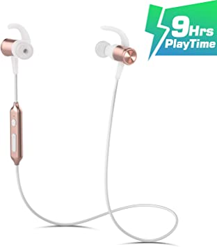 Amazon Com Wireless Sport Running Headphones Bluetooth 4 1 Lightweight Stereo Earbuds With Magnetic Connection Best Wireless Sports Stereo Sweatproof Headset With Built In Mic For Iphone 7 7 Plus Gold Home Audio Theater