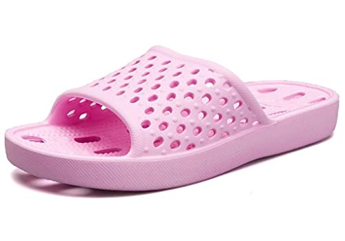 975469f9bde Feel Young Shower Sandal Slippers with Drainage Holes Quick Dry Indoor Lady  Bathroom Foot Massage Shoes