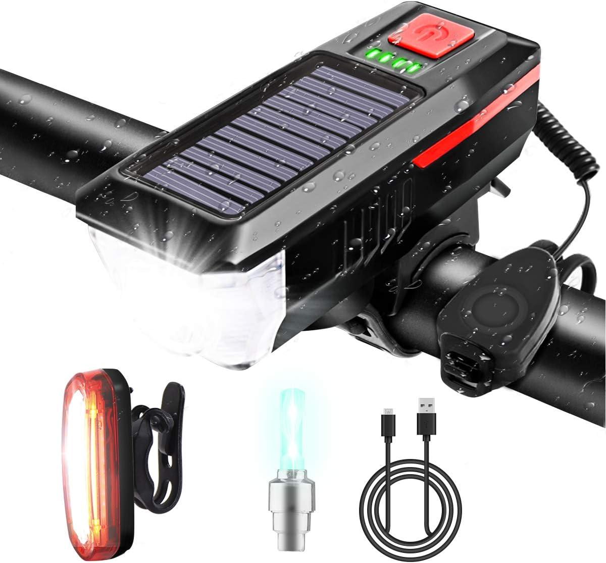 Karrong Fahrradlicht-Set USB wiederaufladbar