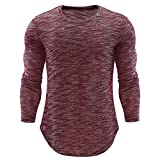 iOPQO T-Shirts for Men, Sweater Personality Casual Slim Long Sleeve Shirt Blouse