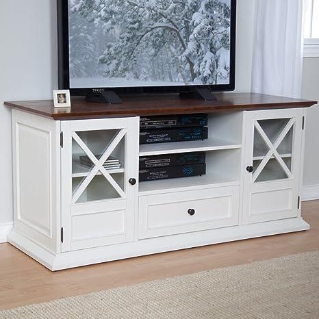 Amazon Com Belham Living Hampton Tv Stand Home Audio Theater